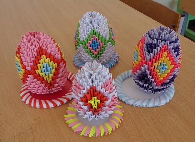 Модульное оригами: Пасхальное